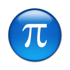 Boton brillante simbolo pi