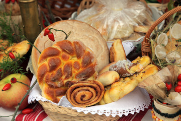 Variety of bread, Thanksgiving day in Croatia 2010