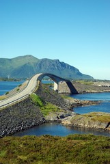 Vew at Atlantic road bridge, Norway
