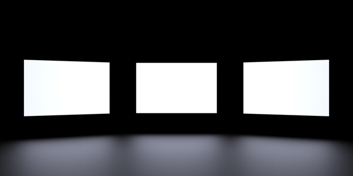 The image of the 3-x screens. Surround the screen.