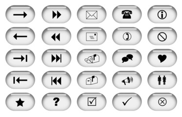 Grey Web Buttons