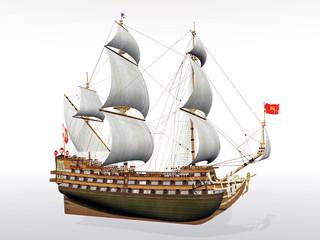 Französisches Segelschiff