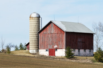 Barn, Basketball, and Silo