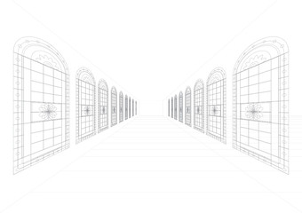 Vector Architectural Style Drawing