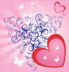 sweet love valentine floral