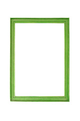 Retro, green frame on white background.