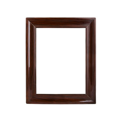 Retro, rectangular frame on white background.