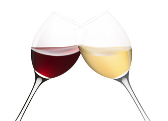 Two wine glasses. Vector illustration.