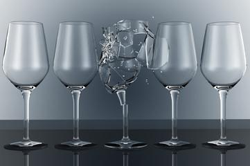 bicchiere rotto