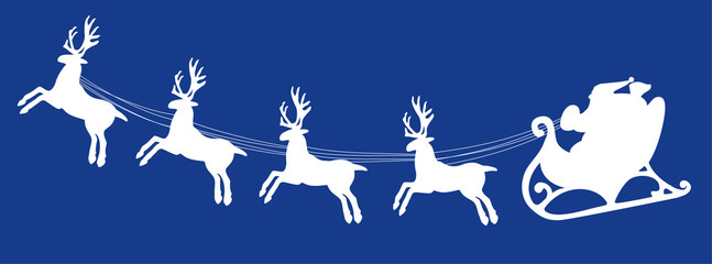 vector background with santa