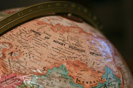 USSR on Globe