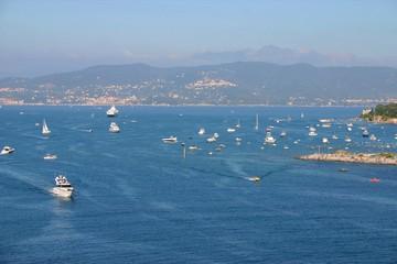 Yachts in the Italian coast