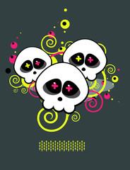 Pattern of skulls A