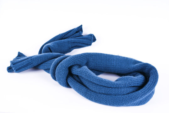 Blue scarf on a white background