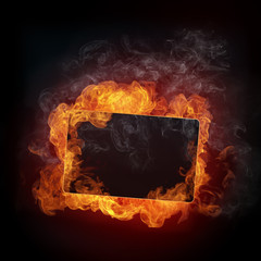 Wall Murals Flame Fire Background