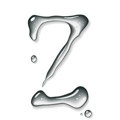 Water letter Z