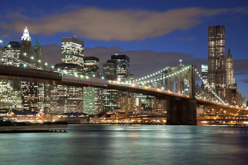 New York City skyline- Brooklyn Bridge