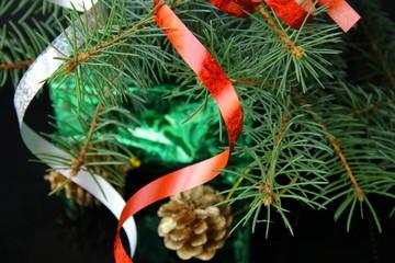 Christmas tree with Christmas decorations