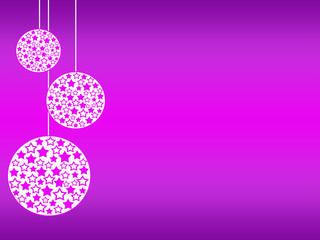palline dell'albero di natale rosa