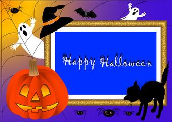 halloween photo frame. vector.