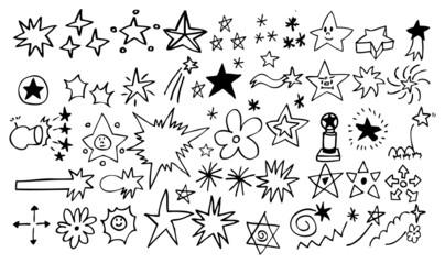 doodle star element set