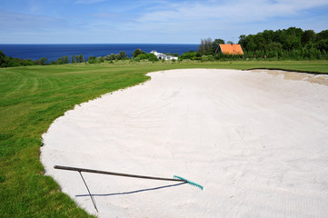 Golf course on Bornholm Island