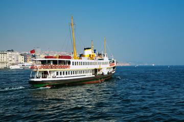 Passenger ship in Bosporus, Istanbul, Turkey