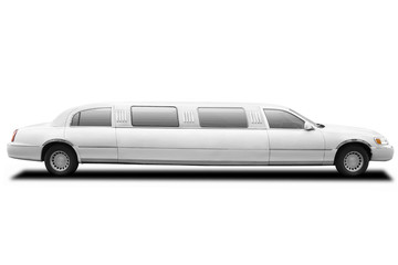 limousine with clipping path
