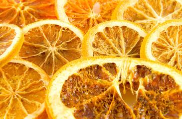 Spoed Foto op Canvas Plakjes fruit Getrocknete Orangenscheiben
