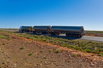 the big road train on the australia outback, australia