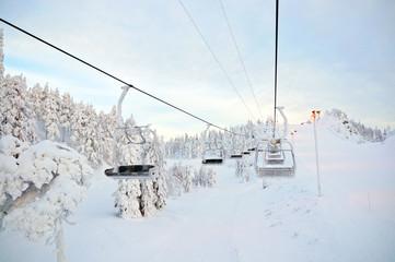 Panorama downhill. Ruka, Finland