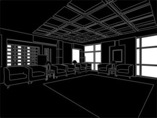 Modern Hall Vector 03