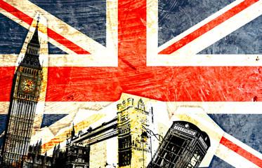 Photo sur Plexiglas Londres drapeau anglais