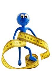 Ben d'Man - diet  & health concept with measure tape