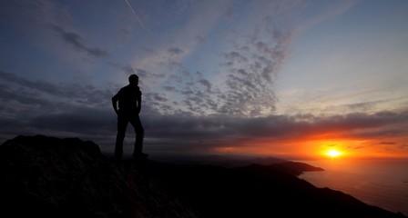 Sunset on Mount Jaizkibel, Gipuzkoa, Euskadi