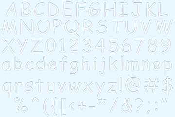 English water alphabet