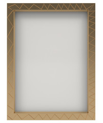 Blank photo frame isolated on white