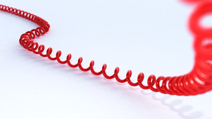 3D red phone cord