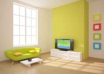 green interior composition