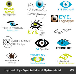 13 logos for opticians and eye specialists
