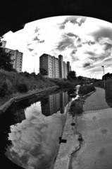 Union Canal and Council Housing, Edinburgh