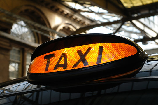 Taxi at the Station