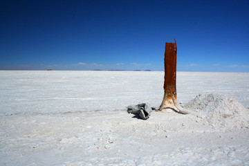 Salt flat in Bolivia