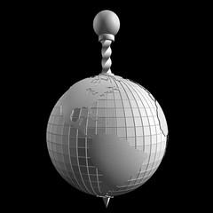 3d абстракция глобус белый
