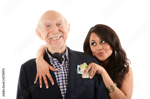 девушка и старик фото