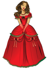Canvas Prints Fairytale World Beautiful princess. Vector art-illustration.
