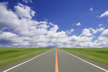 Wall Mural - Road to the cloud.