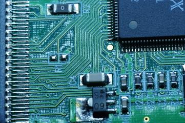 電子機器の内部