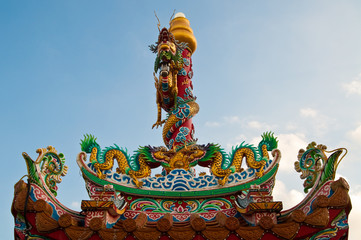 Dragon statue on the roof