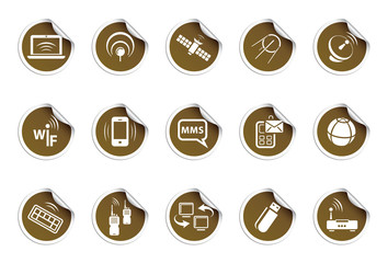 Wireless icons | Sticky series